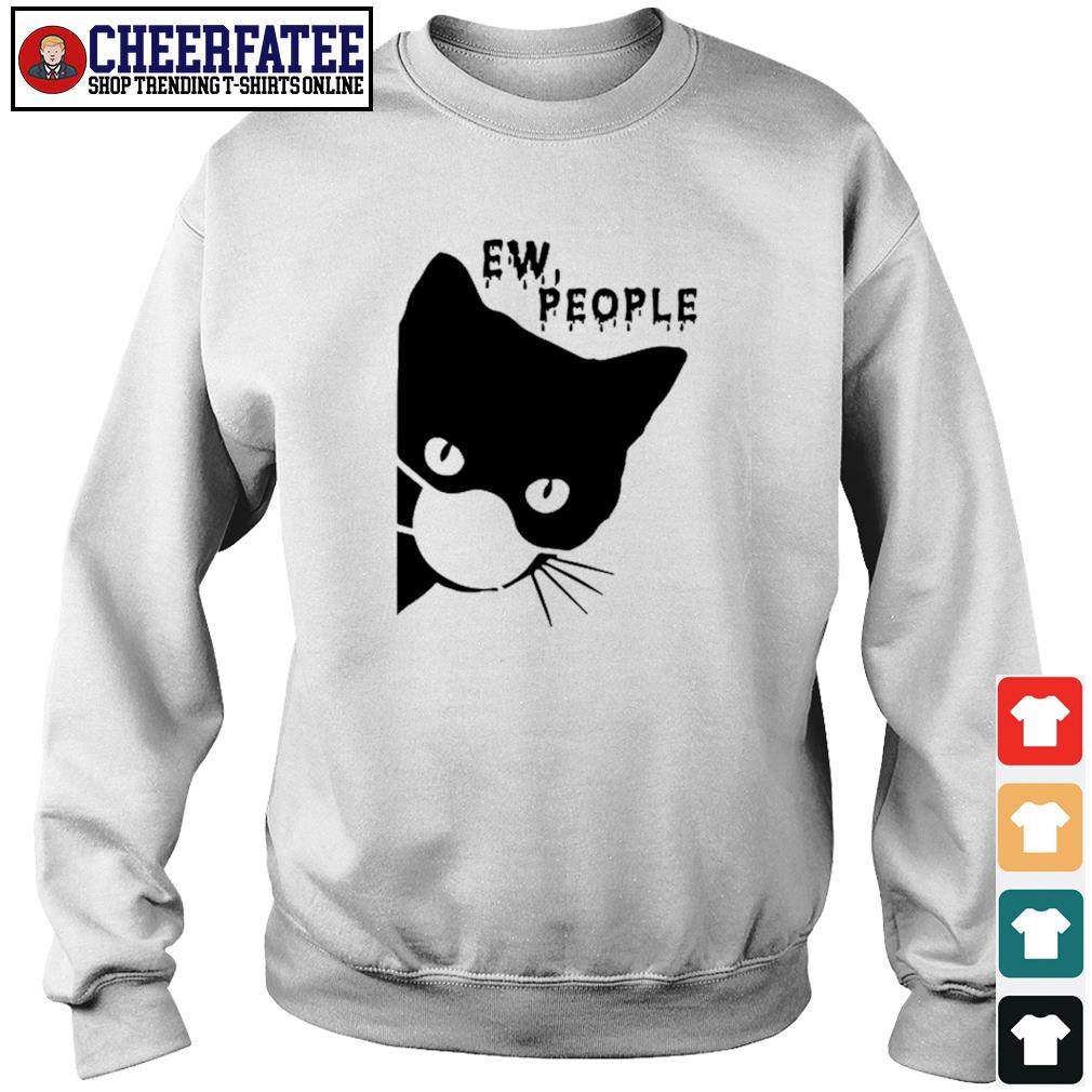Ew people black cat mask covid-19 s sweater
