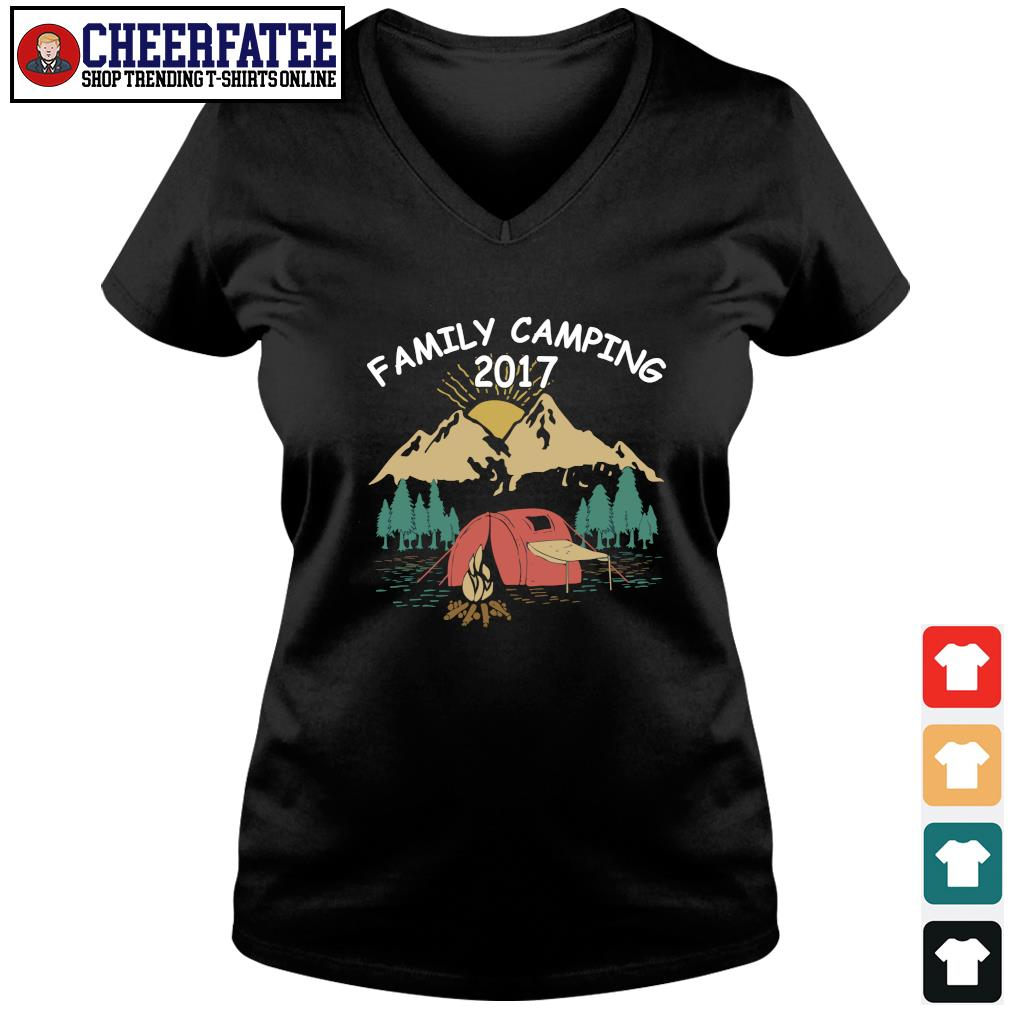 Family camping 2017 s v-neck t-shirt