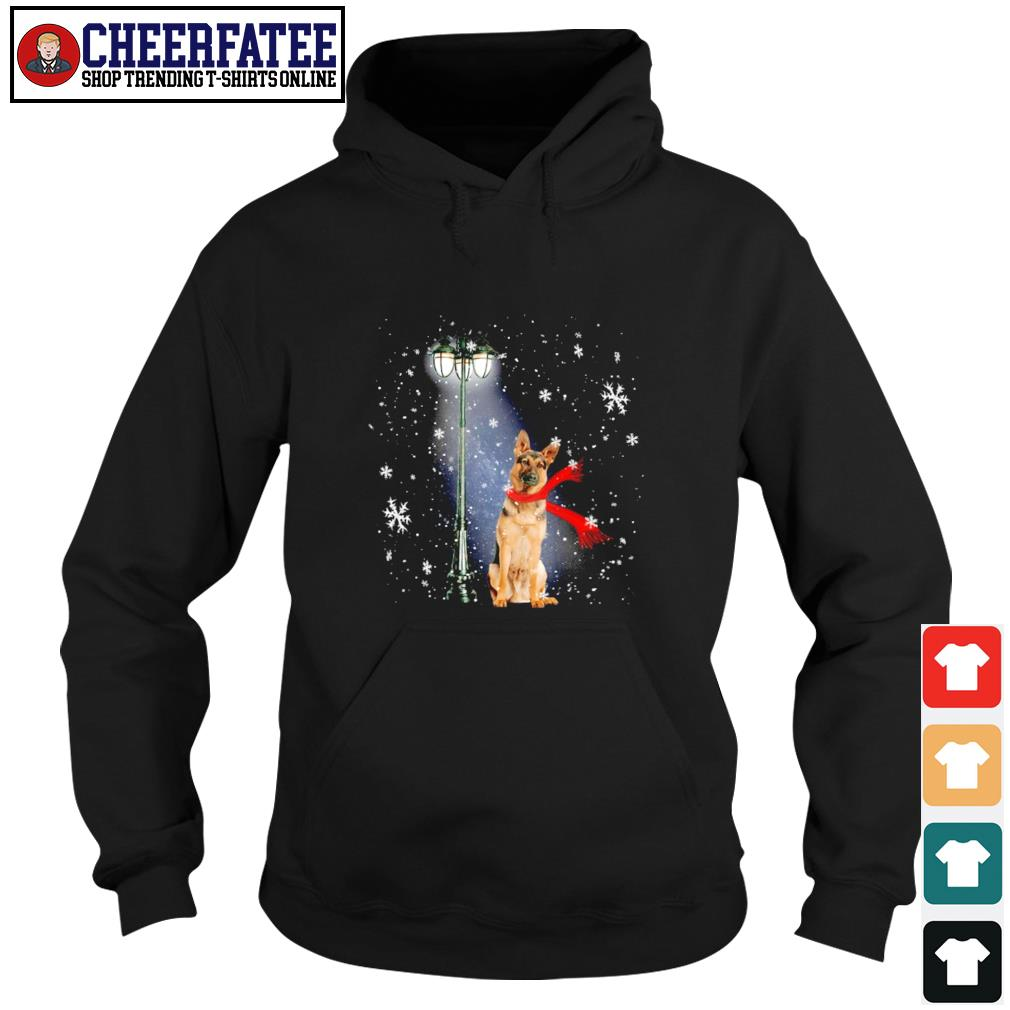 German shepherd waiting for the santa claus christmas s hoodie