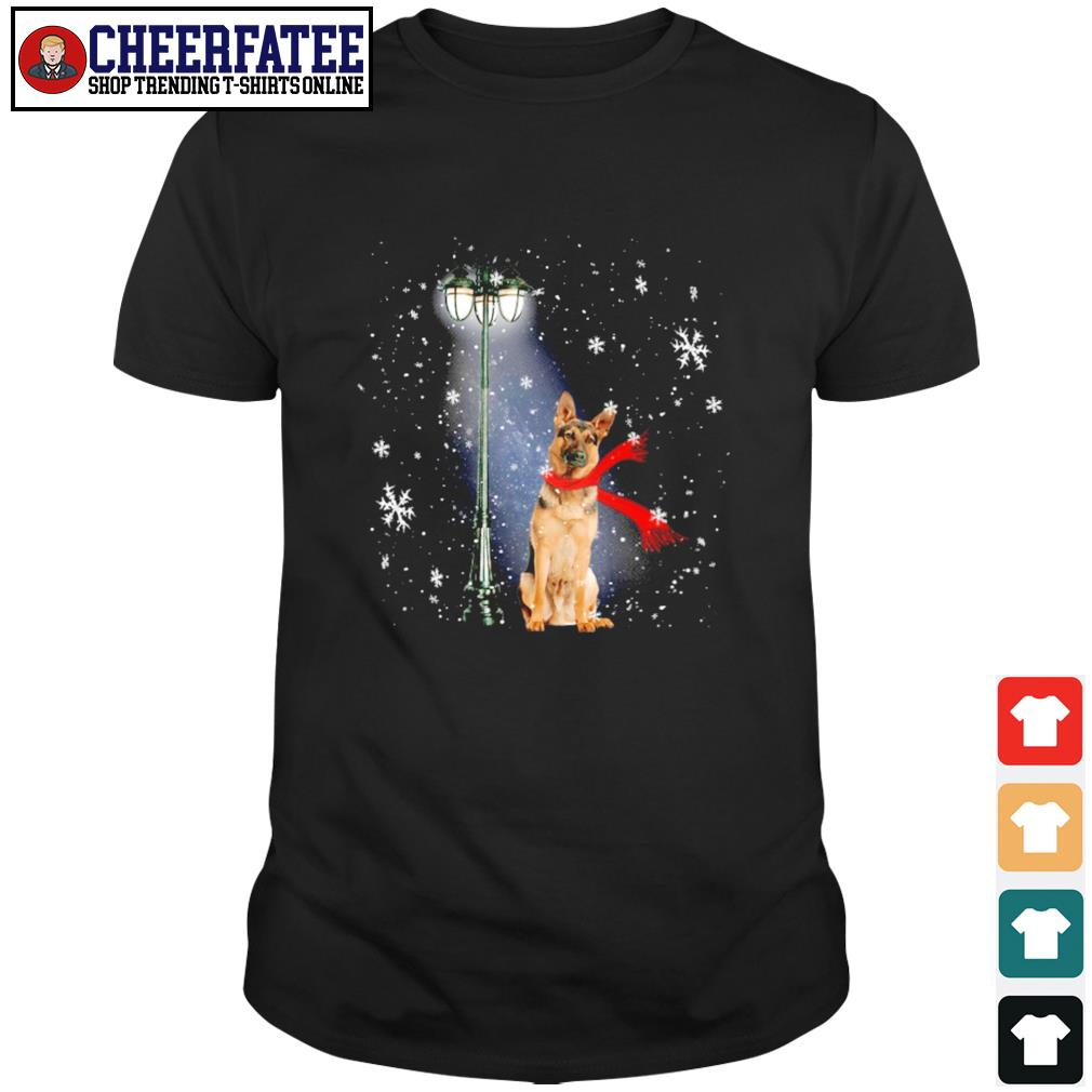 German shepherd waiting for the santa claus christmas shirt