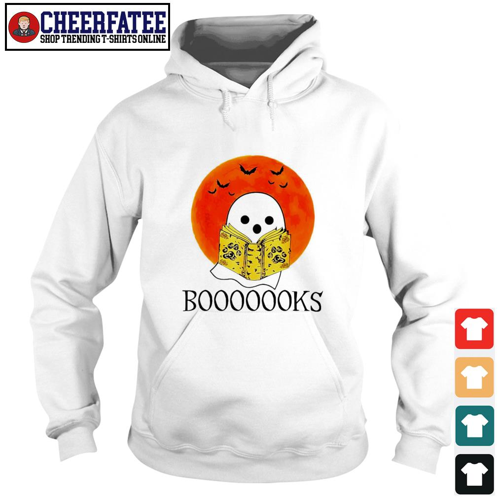 Ghost reading books boo blood moon s hoodie