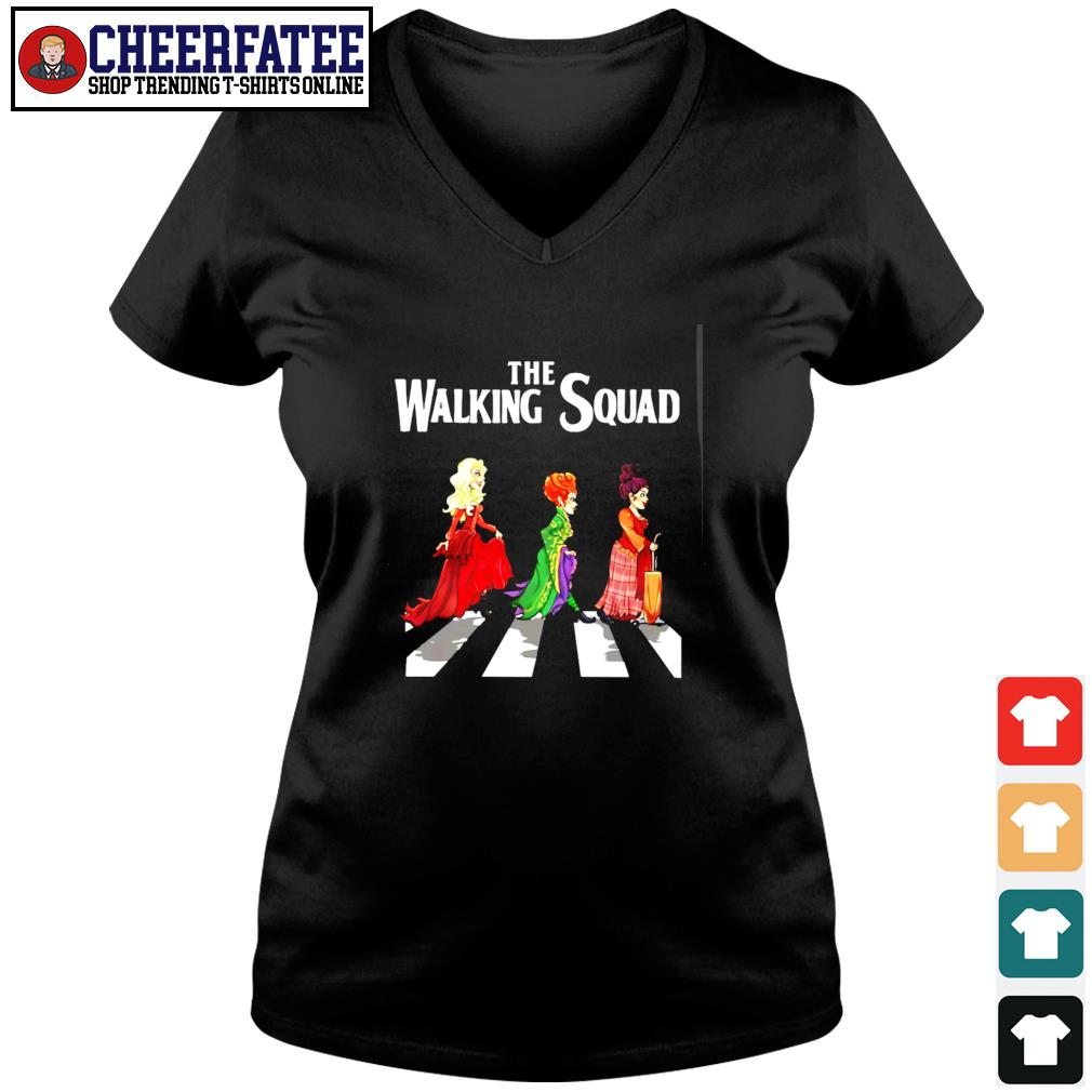 Hocus pocus the walking squad abbey road s v-neck t-shirt