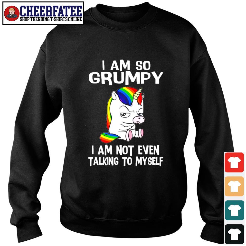I am so grumpy I am not even talking to myself unicorn s sweater
