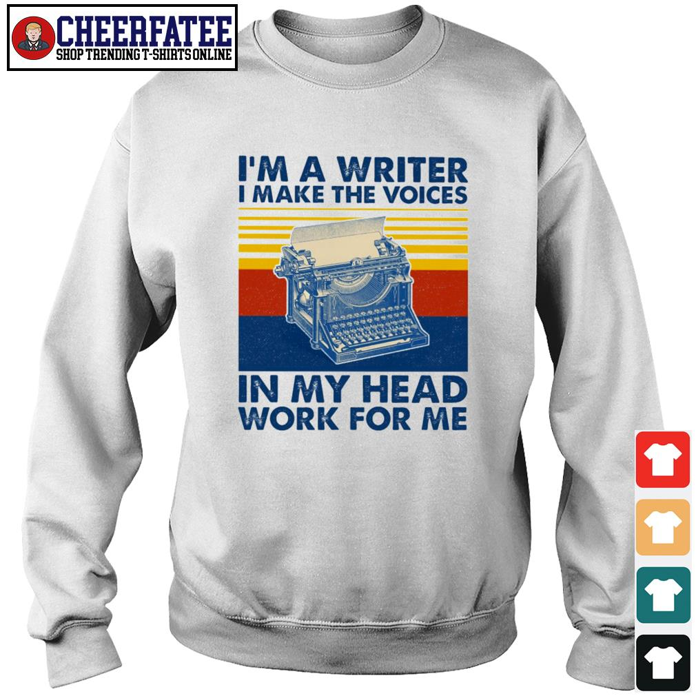 I'm a writer I make the voices in my head work for me vintage s sweater