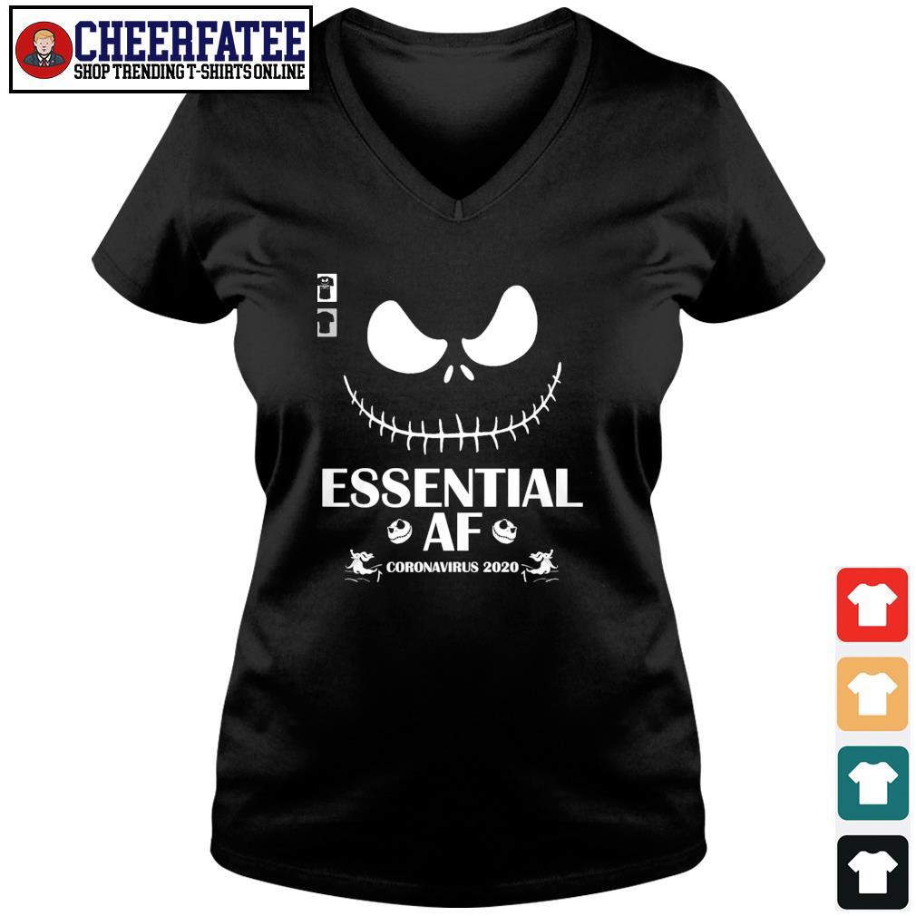 Jack skeleton essential of coronavirus 2020 s v-neck t-shirt