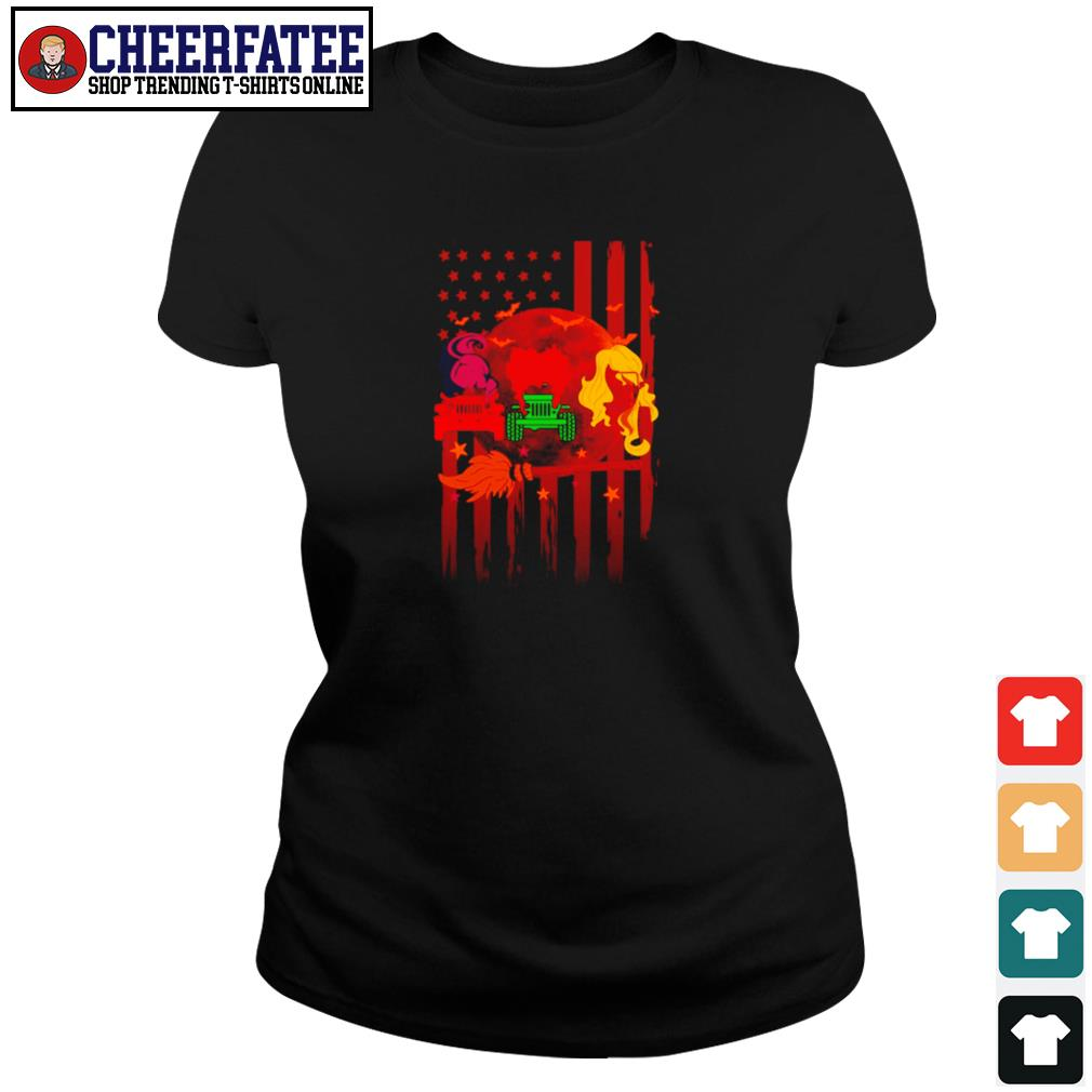 Jeep pocus hocus american flag s ladies-tee