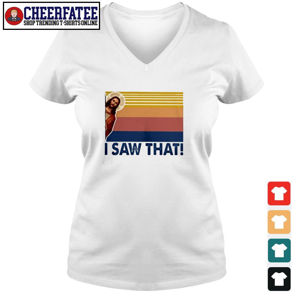 Jesus I saw that vintage s v-neck t-shirt