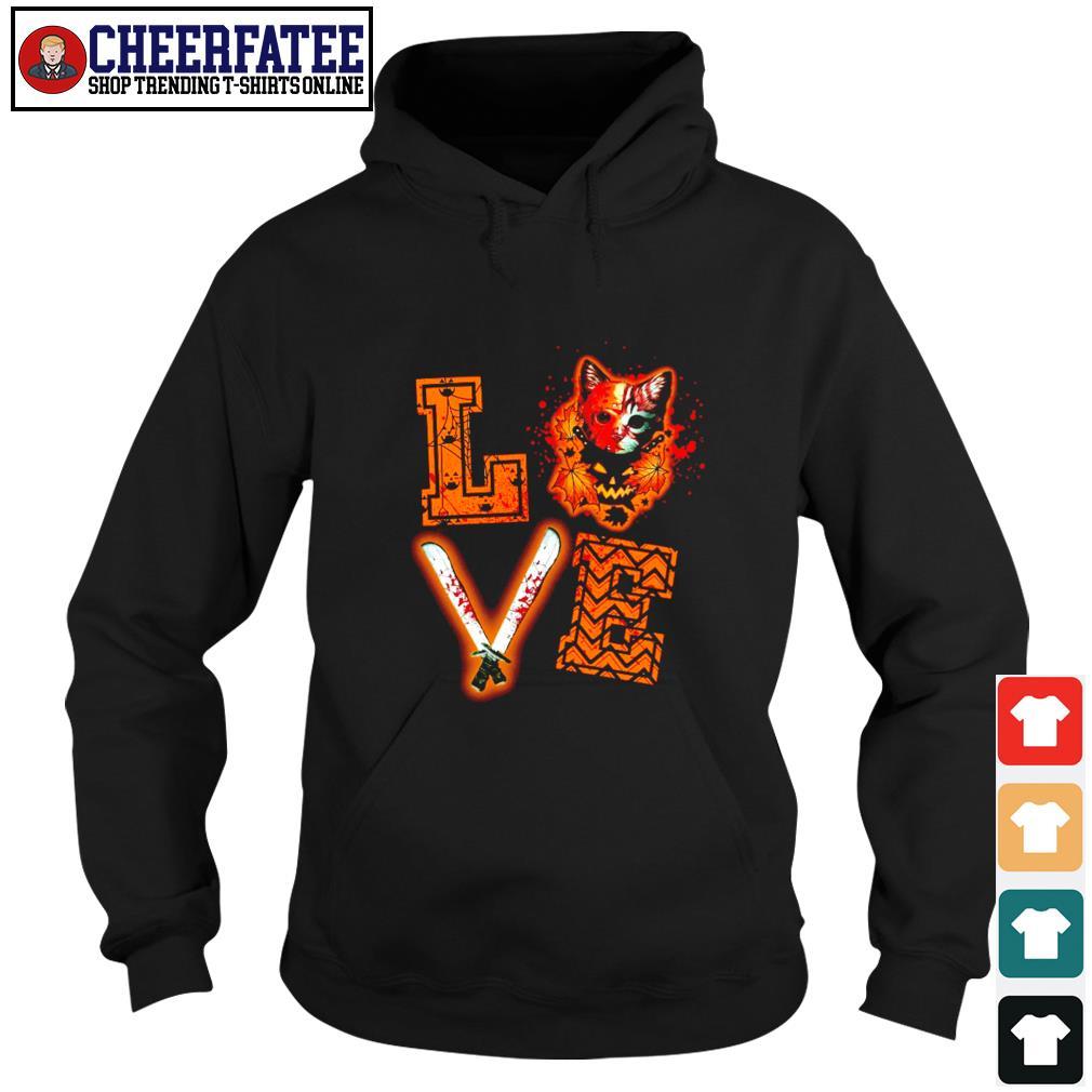 Love halloween jason voorhees cat s hoodie