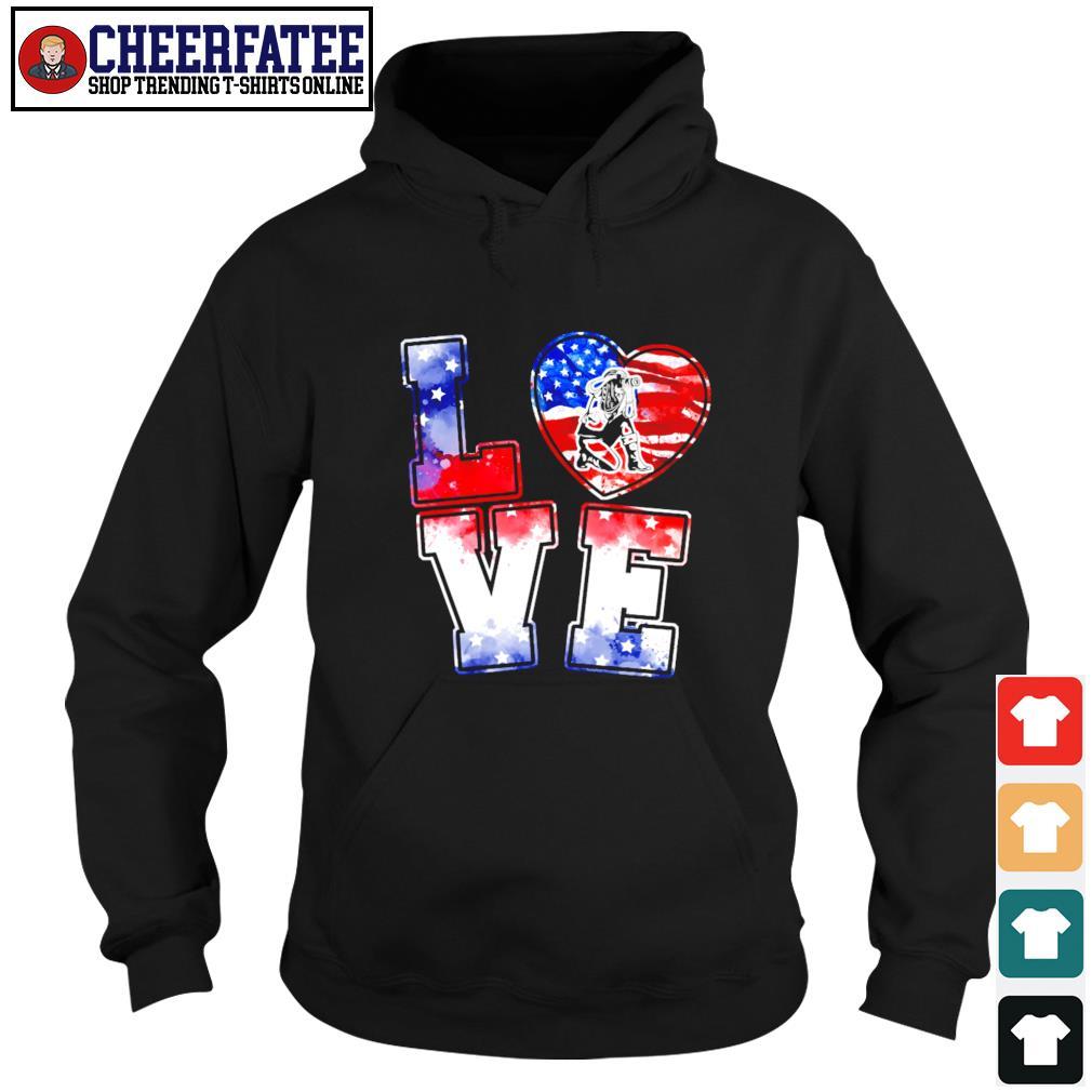 Love is USA american flag s hoodie