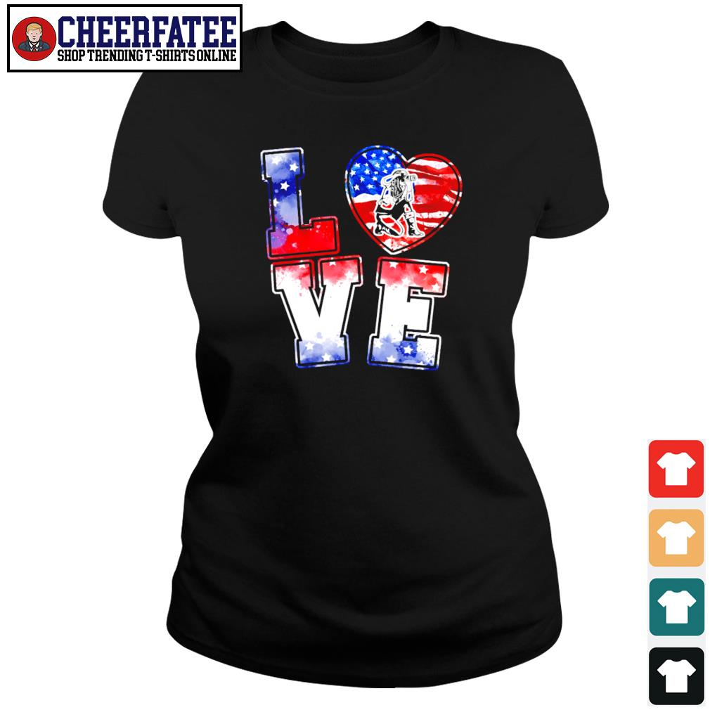 Love is USA american flag s ladies-tee