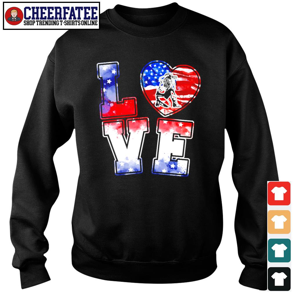 Love is USA american flag s sweater