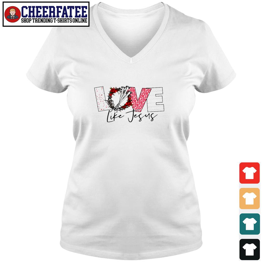 Love life jesus s v-neck t-shirt