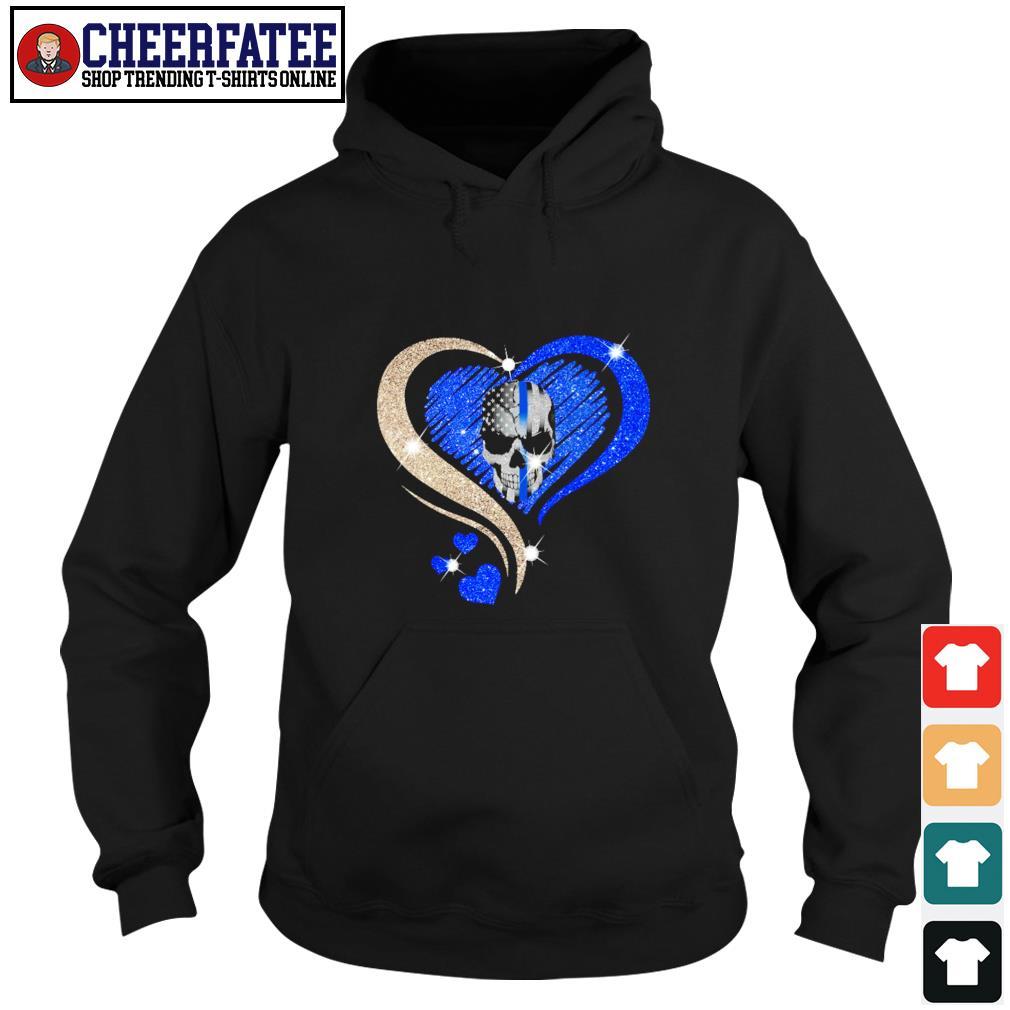 Love skull heart american flag s hoodie