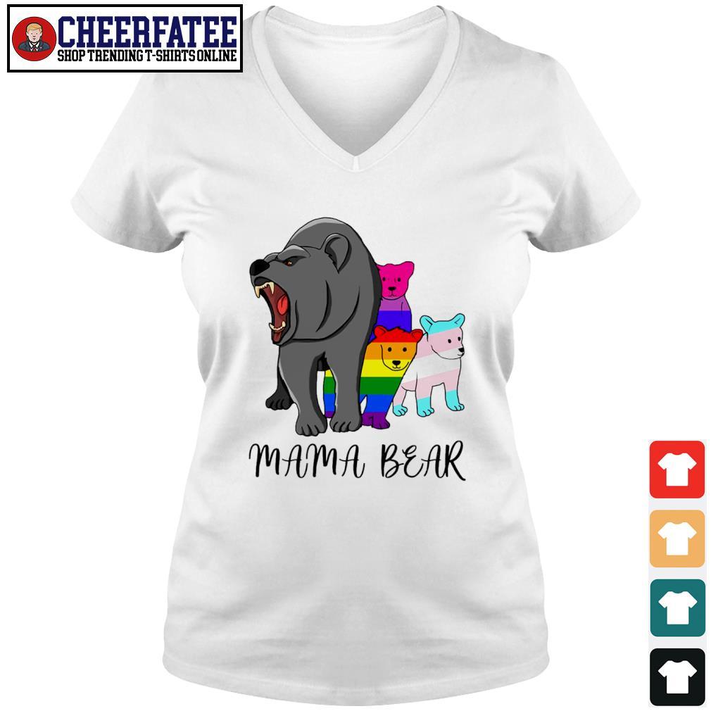 Mama bear lesbian gay bisexual son s v-neck t-shirt
