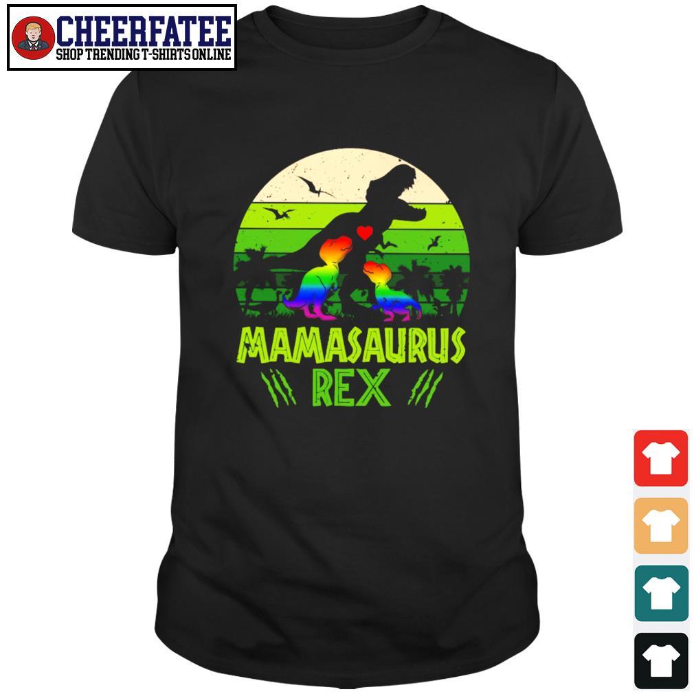 Mamasaurus rex green LGBT shirt