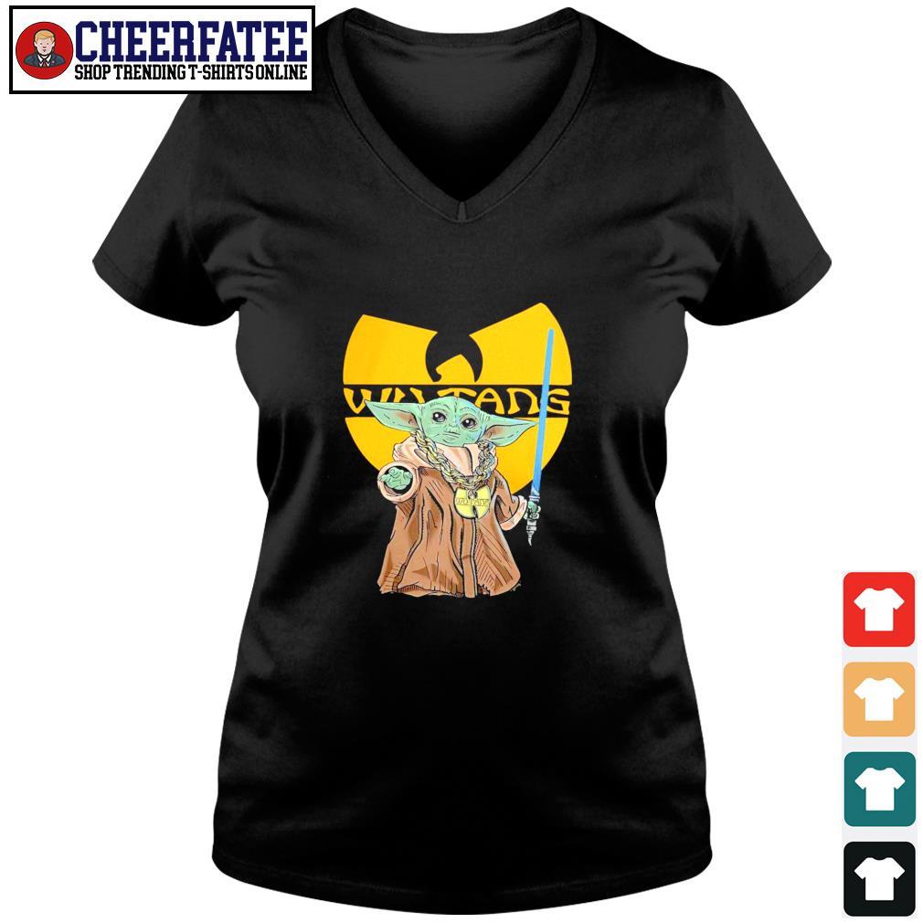 Master yoda wu-tang rapper s v-neck t-shirt