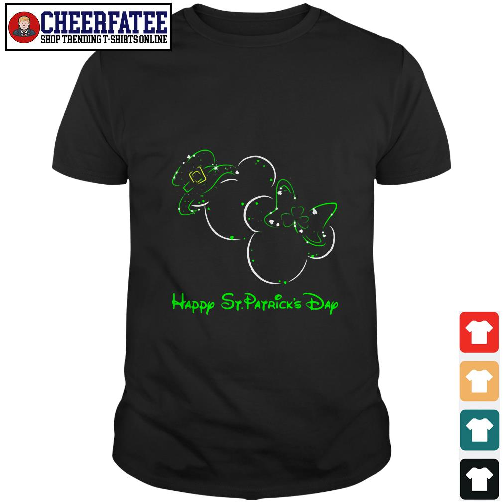 Clickbuypro Unisex T-shirt Mickey Mouse And Minnie Mouse Happy St Patricks Day Shirt Sweater Forest Green 2xl