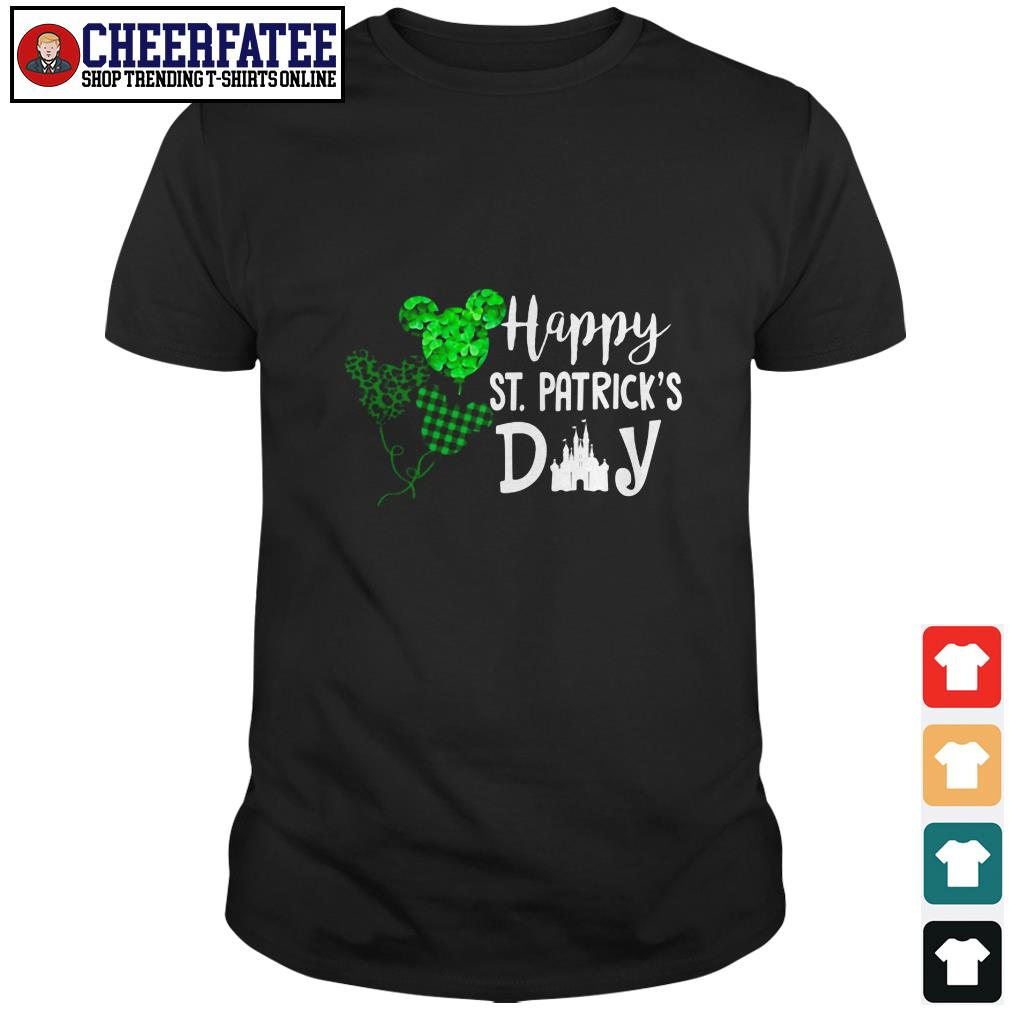 Clickbuypro Unisex T-shirt Mickey Mouse Happy St Patricks Day Shirt Sweater Forest Green 2xl