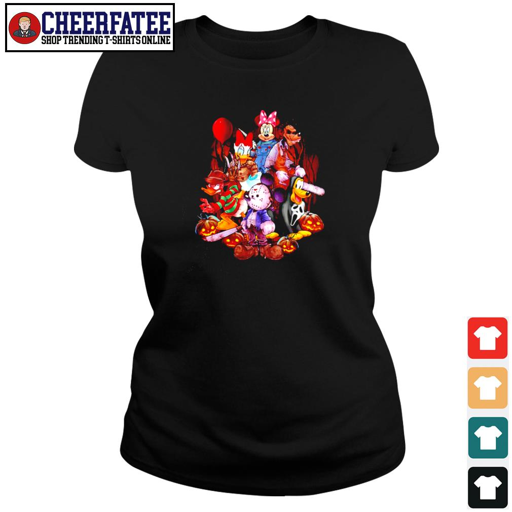 Mickey mouse movie horror character halloween s ladies-tee