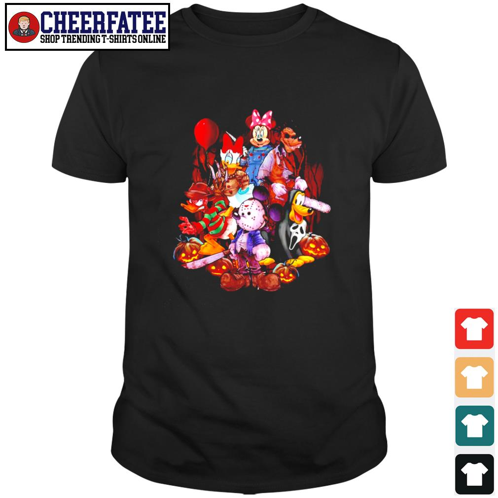 Mickey mouse movie horror character halloween shirt