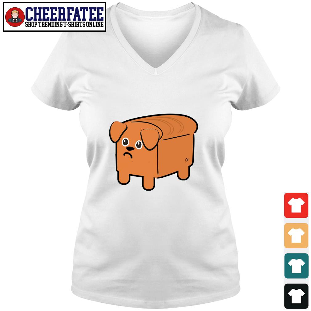 Milk bread dog cute s v-neck t-shirt