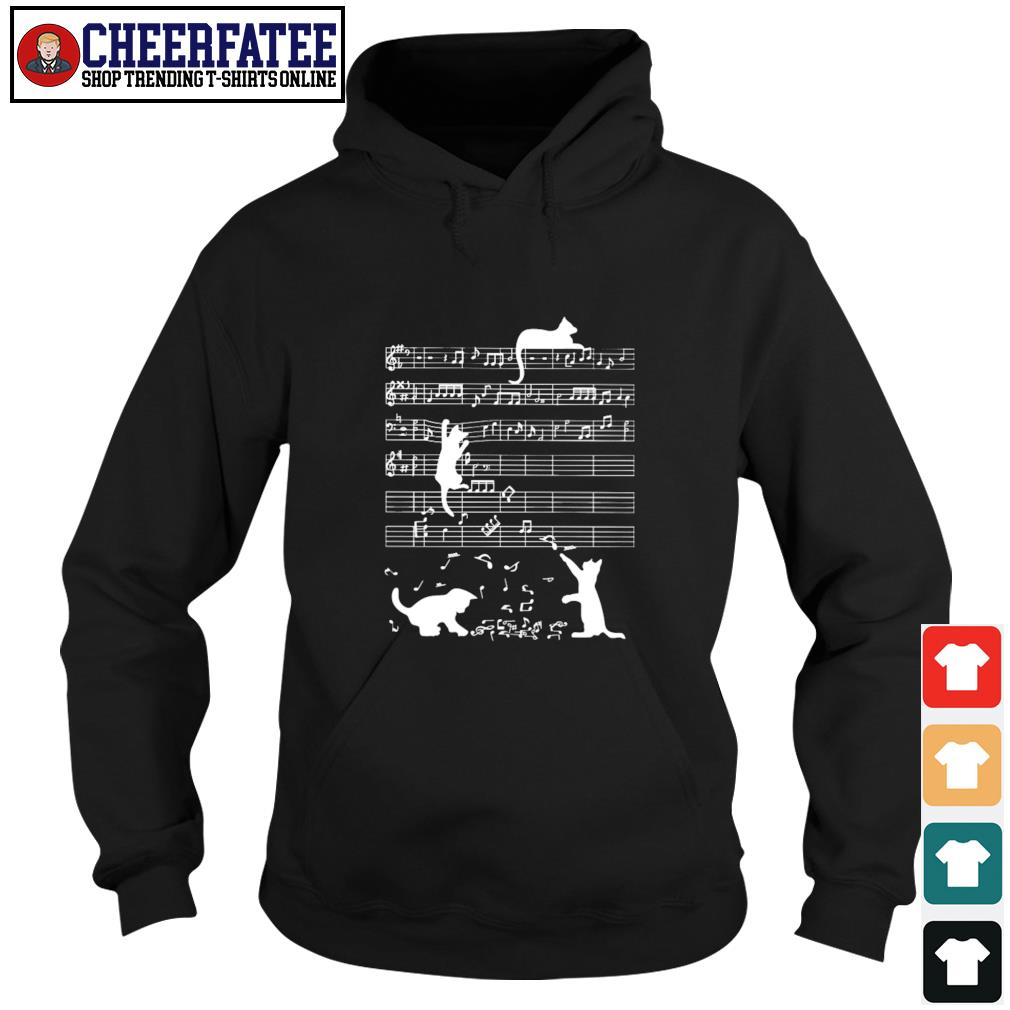 Musical notation cat s hoodie