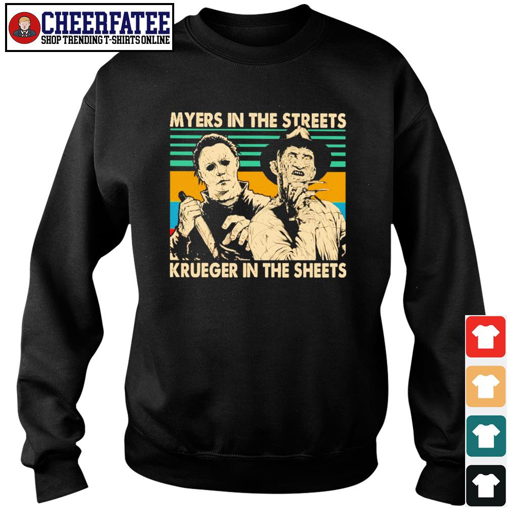 Myers in the streets krueger in the sheets s sweater