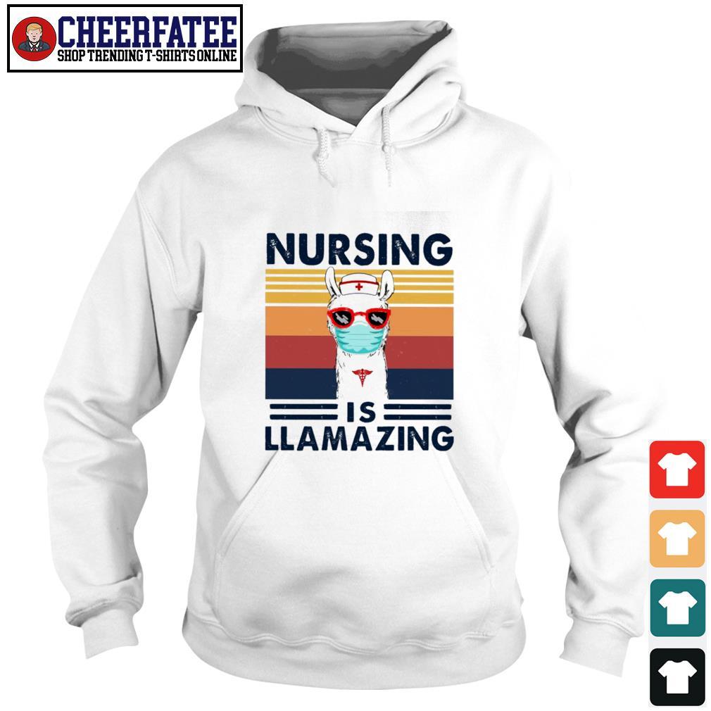 Nursing is llamazing vintage s hoodie