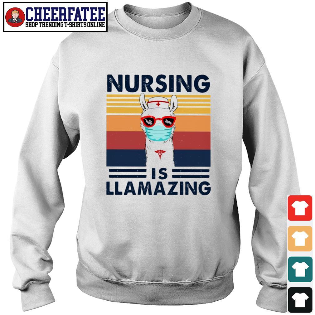Nursing is llamazing vintage s sweater