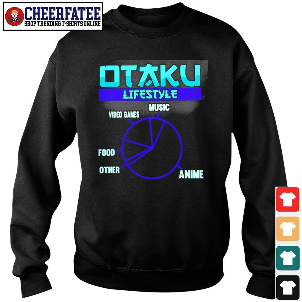 Otaku lifestyle music video game food other anime s sweater