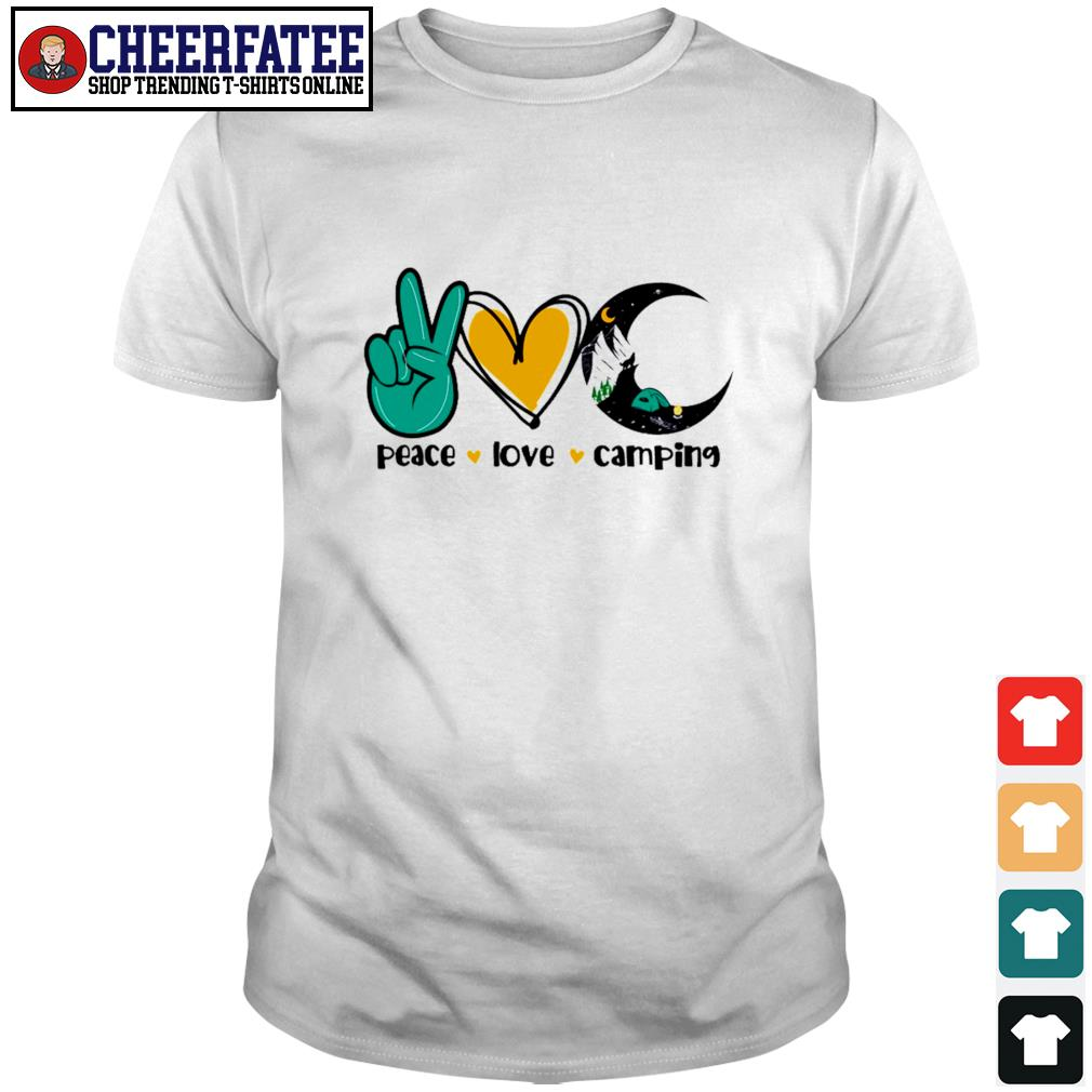 Peace love camping crescent moon shirt
