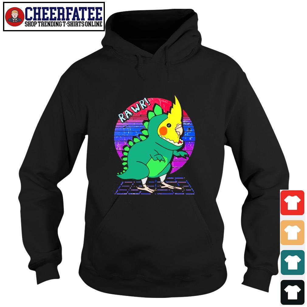 Rawr dinosaur parrot vintage s hoodie