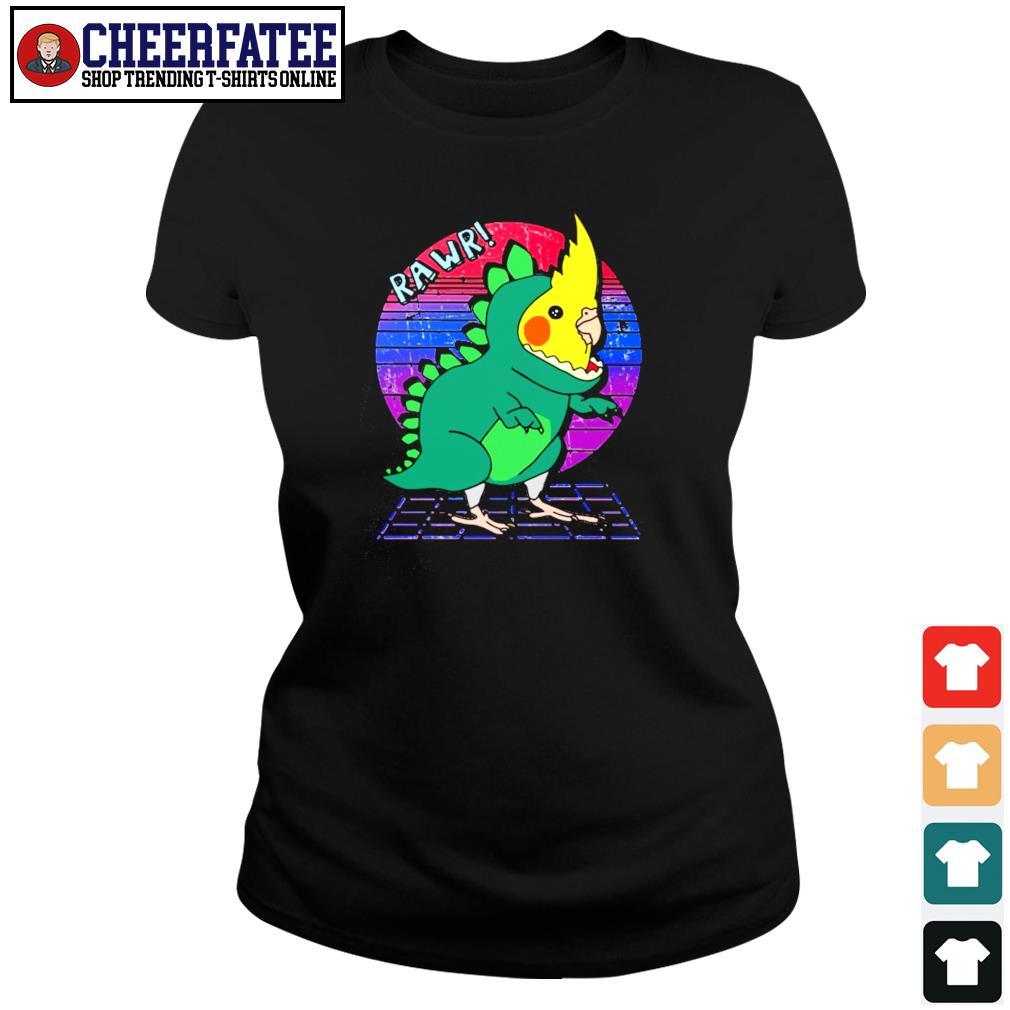 Rawr dinosaur parrot vintage s ladies-tee