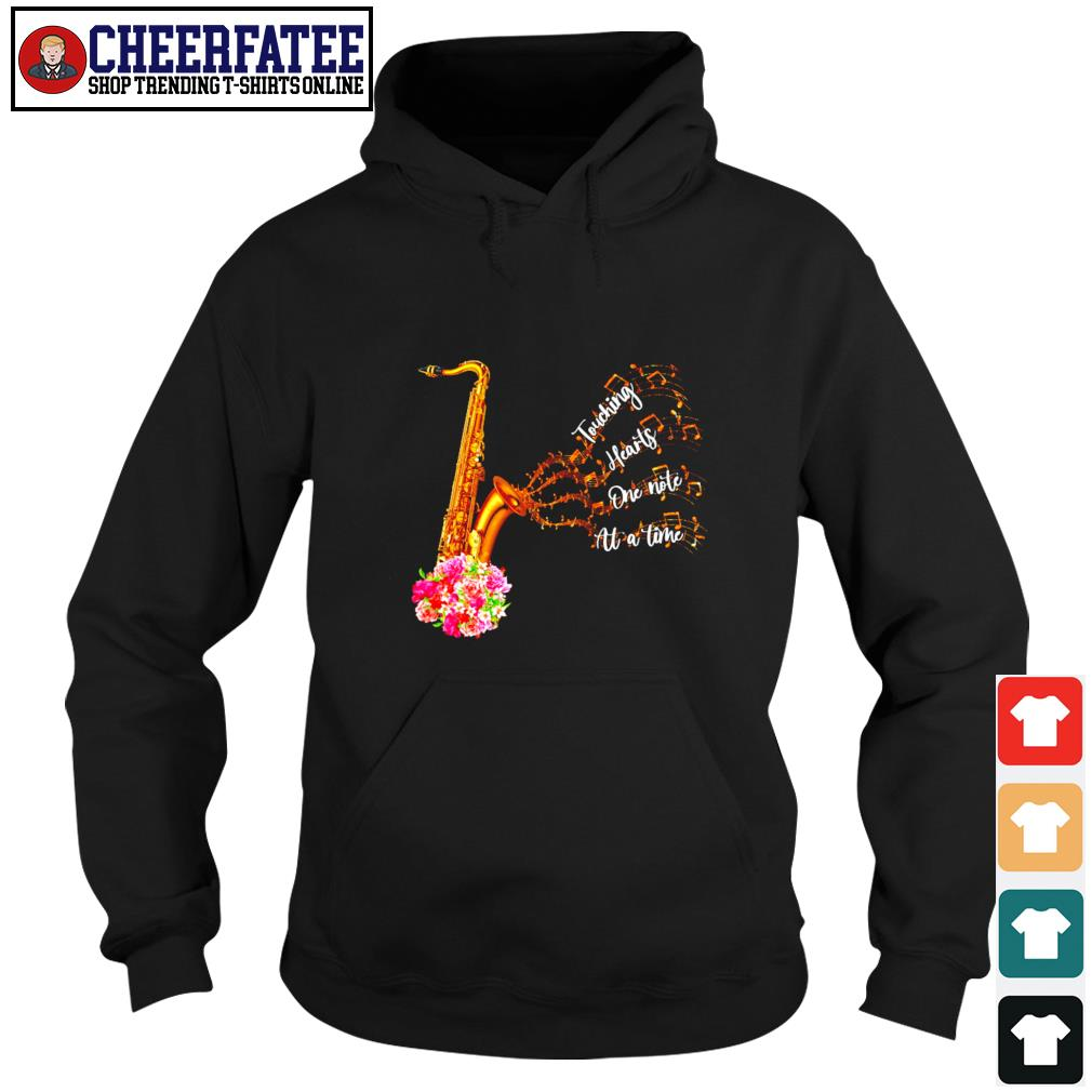 Saxophone touching hearts one note at a time s hoodie