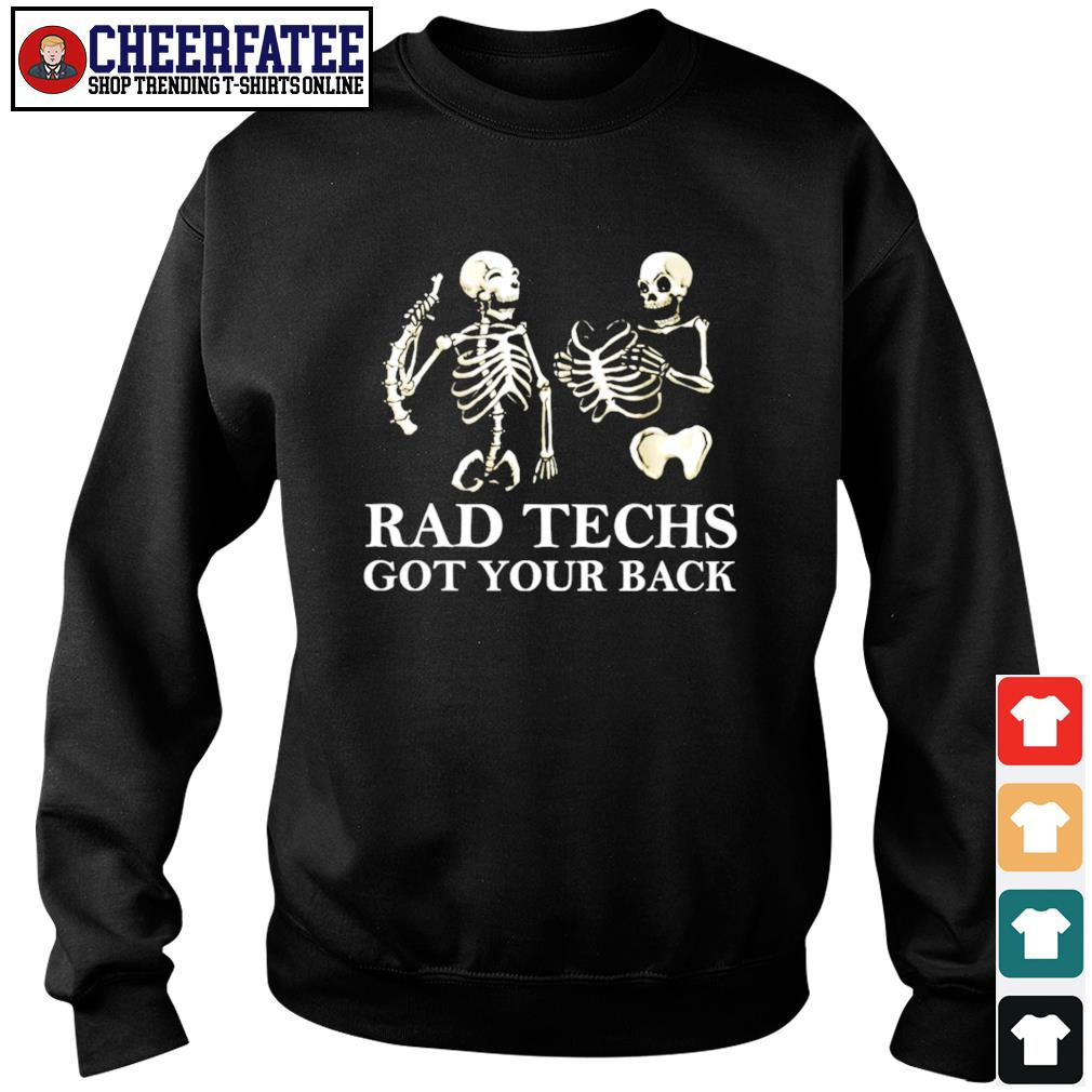 Skeleton rad techs got your back s sweater