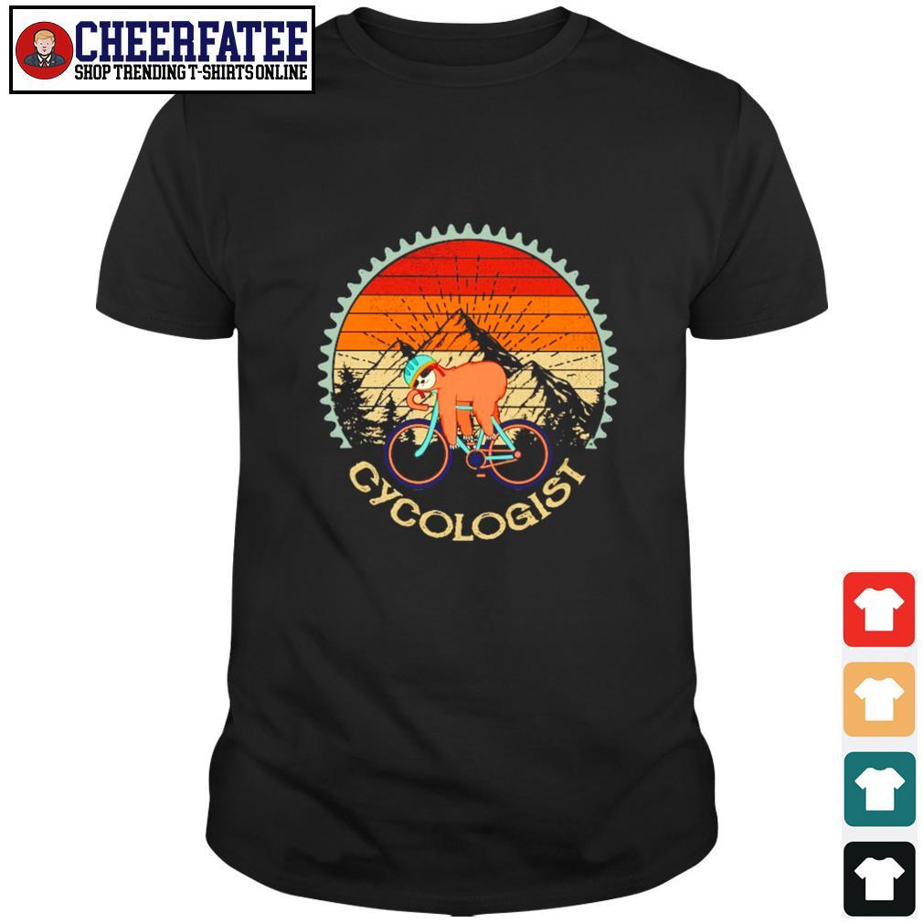 Sloth cycologist vintage shirt