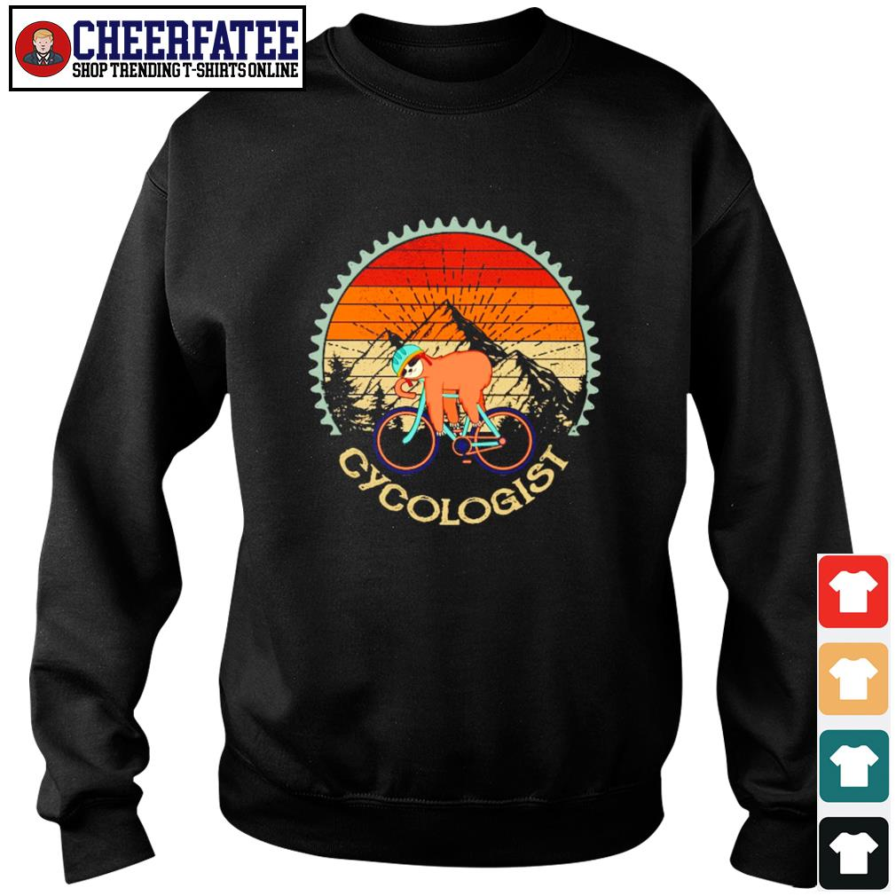 Sloth cycologist vintage s sweater