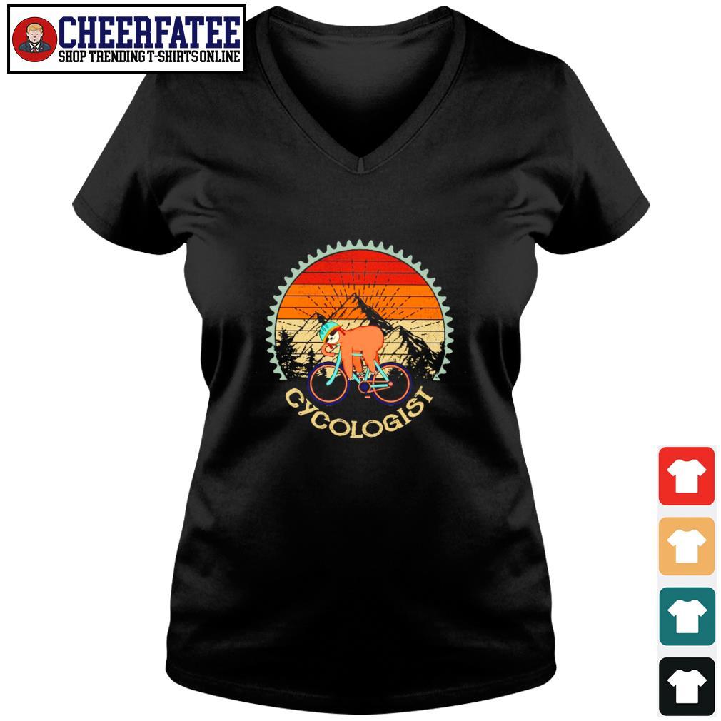 Sloth cycologist vintage s v-neck t-shirt