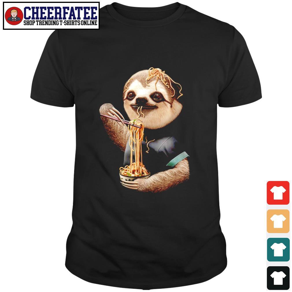 Sloth eating ramen shirt