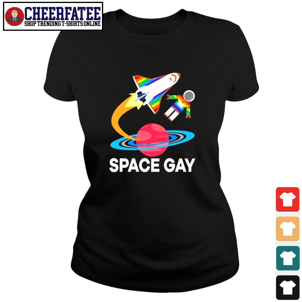 Space gay LGBT s ladies-tee