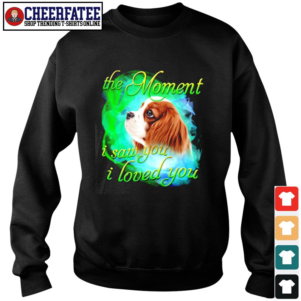Spaniel the moment I saw you I loved you s sweater
