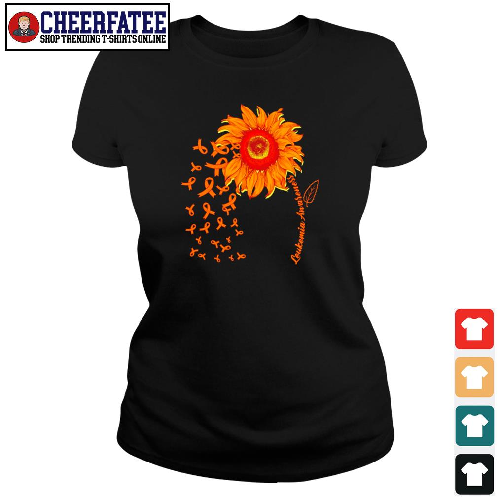 Sunflower leukemia awareness s ladies-tee