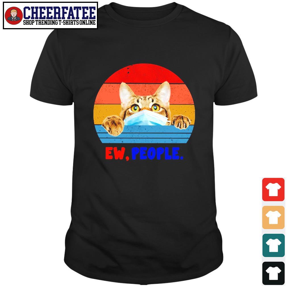Tabby cat ew people vintage shirt