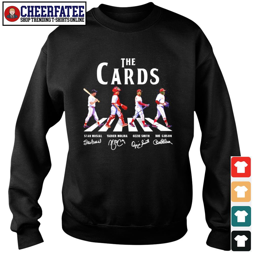 The cards stan musial yadier molina ozzie smith bob gibson signature s sweater