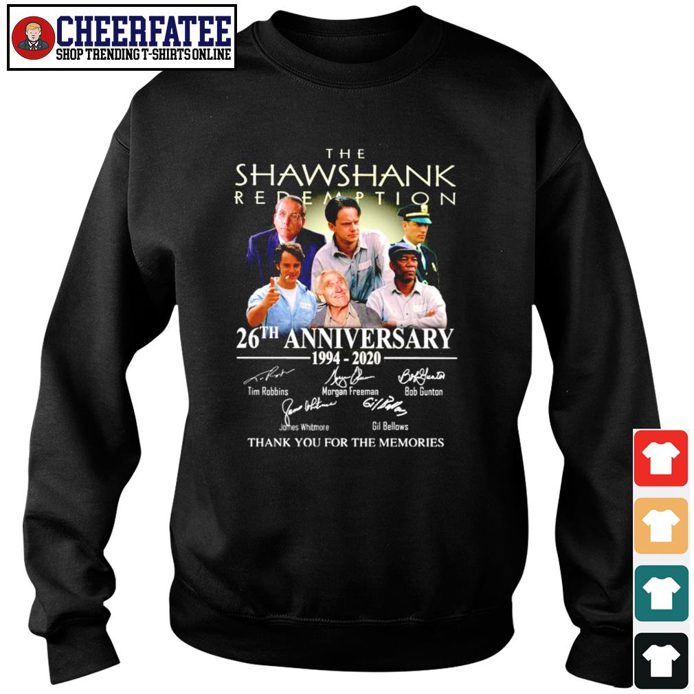 The shawshank 26th anniversary 1994 2020 thank you for the memories s sweater