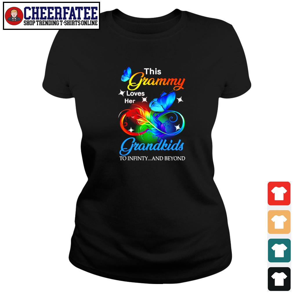 This granny loves her grandkids to infinity and beyond s ladies-tee