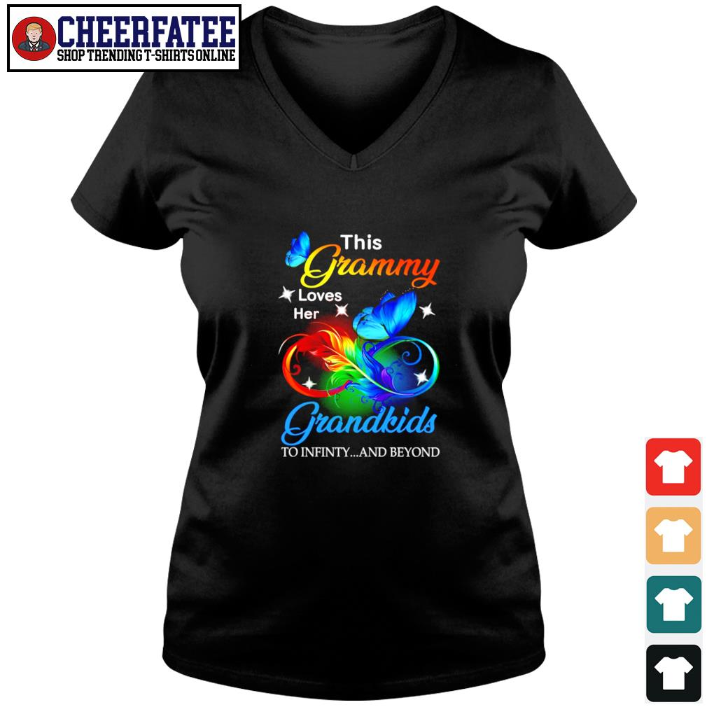 This granny loves her grandkids to infinity and beyond s v-neck t-shirt