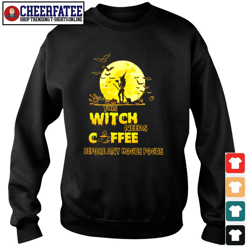 This witch needs coffee before any hocus pocus s sweater