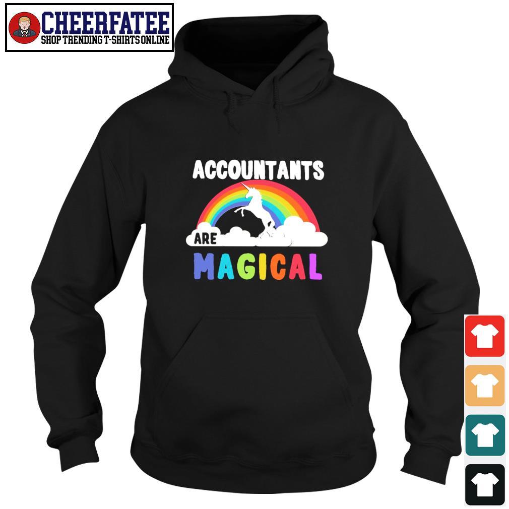 Unicorn accountant are magical rainbow s hoodie