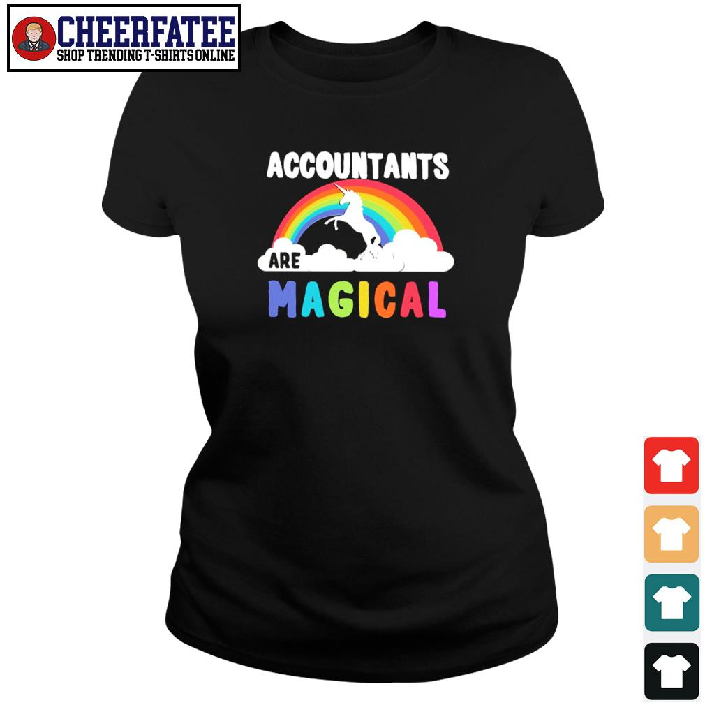 Unicorn accountant are magical rainbow s ladies-tee